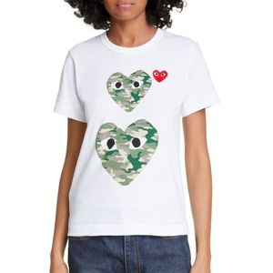COMME DES GARÇONS PLAY Camouflage Graphic Tee
